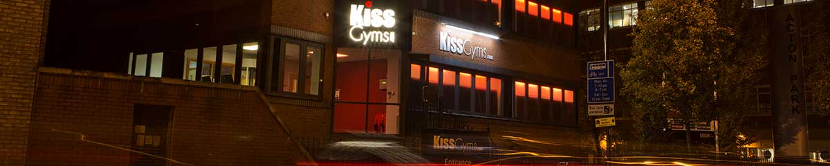 Kiss Gyms at night